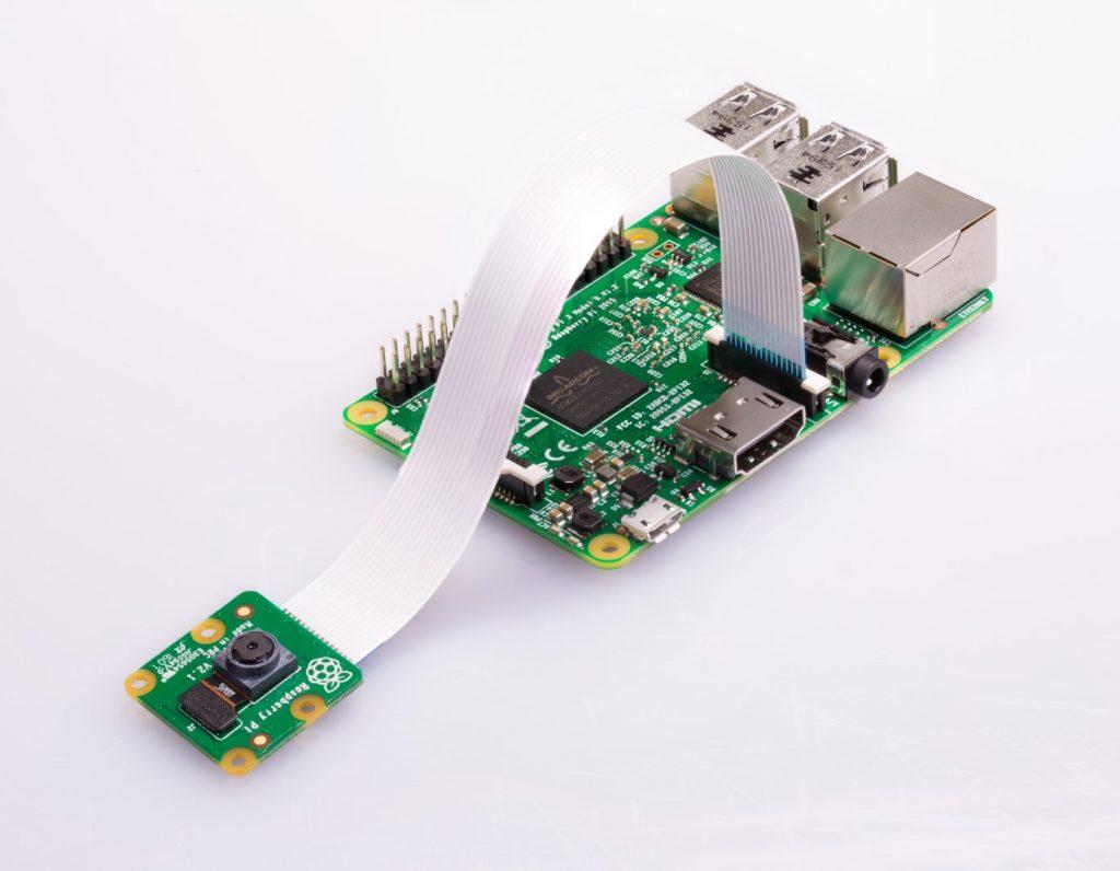 Raspberry Pi camera attached to Raspberry Pi