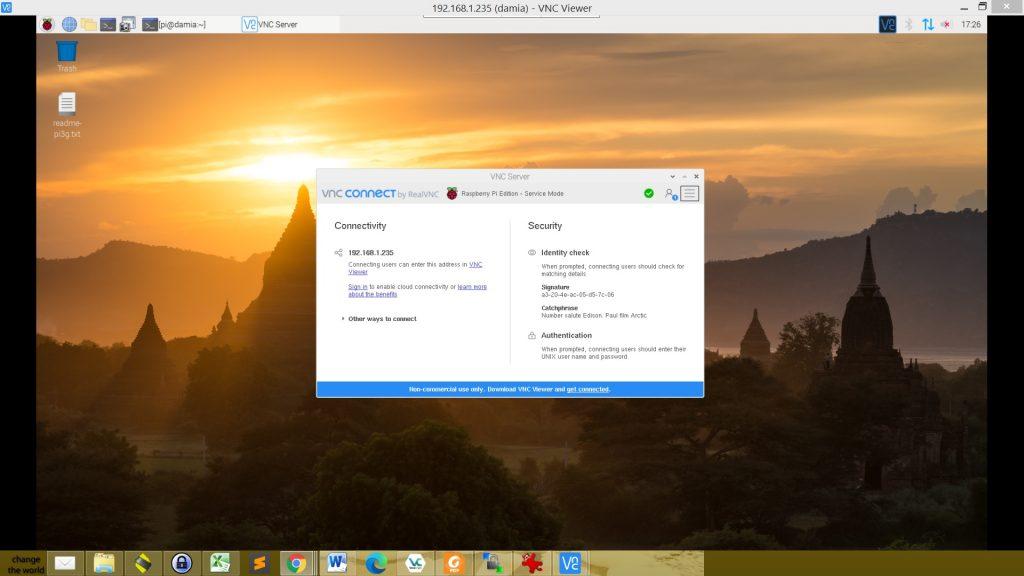Control your Raspberry Pi Desktop using RealVNC
