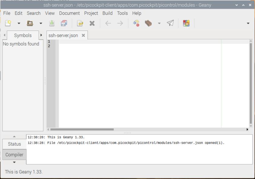Geany programming editor screenshot