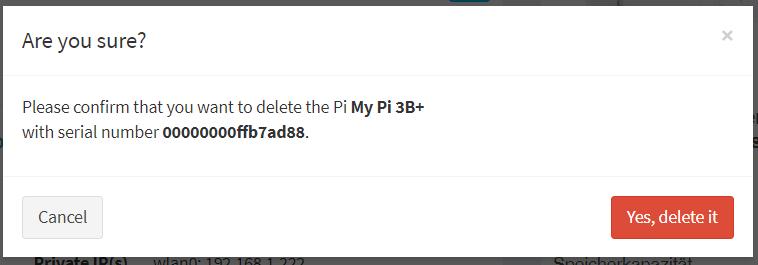 PiCockpit delete dialog confirmation