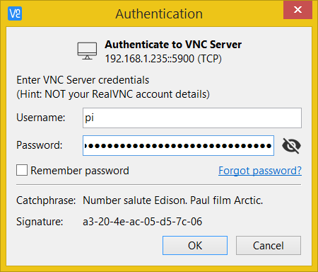 VNC Server authentication - use Raspberry Pi OS credentials