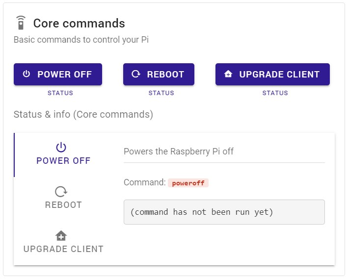 Basic commands to control your Pi remotely using a webinterface - from any browser